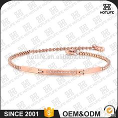 High Quality 316L Stainless Steel PVD Plated Zircon Couple Bracelet