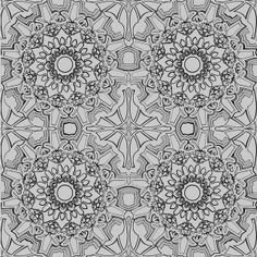 Medallion temporary wallpaper by #Tempaper