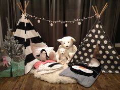 How cute are these #TheLandofNod teepees? #playeveryday