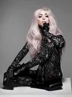 Lady Gaga photographed by Nick Knight for Vanity Fair, September Lady Gaga Outfits, Lady Gaga Fashion, Elie Saab, Divas, Mode Sombre, Nathalie Portman, Lady Gaga Pictures, Our Lady, Vanity Fair