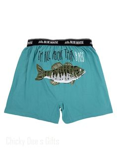Hatley Men s Boxers I'M ALL ABOUT THE BASS Novelty Underwear Dad Father's Day