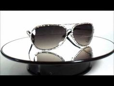 cb0f3d7d7c5 Unisex Black Frame Aviator Sunglasses with Swarovski Crystals - YouTube
