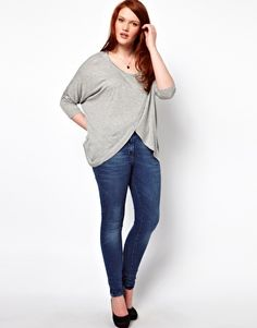 ASOS CURVE Top With Cross Front