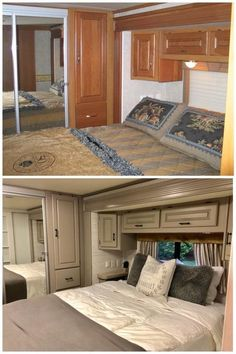 17 DIY RV Remodel Ideas On A Budget - camperlife rv remodel Home, Remodel, Home Remodeling, Trailer Home, Diy Camper Remodel, Remodel Bedroom, Renovations, Bathrooms Remodel, Camper Living