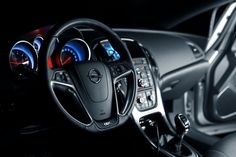 The interior of our Opel Astra OPC.