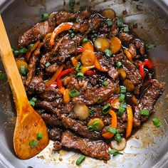 Mongolian Beef - a quick and easy recipe. People love this dish for its balance of sweet and salty flavours and this recipe has just a little extra zing.