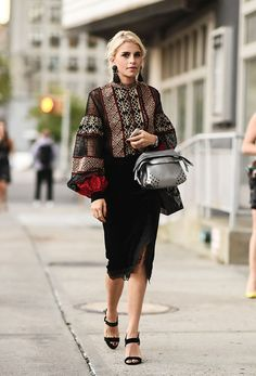 New York Fashion Week Street Style Frühling Die besten Momente aus NYFW Folk Fashion, Ethnic Fashion, Diy Fashion, Trendy Fashion, Ideias Fashion, Fashion Outfits, Womens Fashion, Fashion Trends, Style Fashion