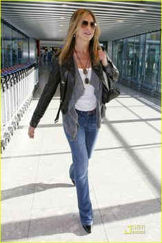 Jennifer Anniston--okay, he really didn't work with her.  She just spoke to him in the hallway at WGN.  She spoke first.  Just sayin...