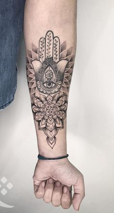 55 Spiritual Hamsa Tattoo Meaning and Designs Symbol Inner Arm Tattoos, Arm Sleeve Tattoos, Sleeve Tattoos For Women, Forearm Tattoos, Body Art Tattoos, Tattoos For Guys, Female Tattoos, Hamsa Tattoo Design, Tattoo Designs