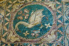https://flic.kr/p/s58SaL | 20150322 Cyprus 00325 | Swan mosaic. Soli Church.  Outside the village of Gemikonagi, on the coast near Lefke. The church was built in many different stages. The first building was a five naved church.  4th century AD. Later in the 6th century, the church was turned into a three naved church. The three naves were separated by twelve columns, and the large columns are still standing today.