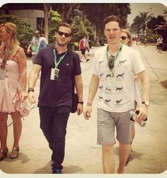 Benedict Cumberbatch at Formula One, Malaysia. 29th March 2014
