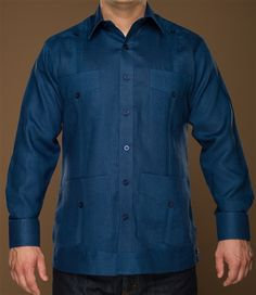 Ramon Puig, the King of the Guayaberas. Mens Smart Shirts, African Shirts For Men, Best Fragrance For Men, Guayabera Shirt, Mens Fashion, Fashion Outfits, Summer Shirts, Mens Suits, Drill