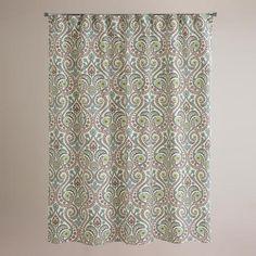Treetop Shower Curtain | World Market - Girls Bathroom