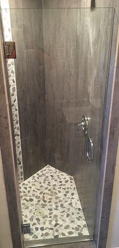 Frameless shower door, BM style handle in Chrome finish Frameless Shower Enclosures, Frameless Shower Doors, Chrome Finish, Hardware, Handle, Design, Style, Swag