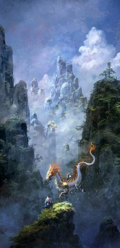 Love the combination of modern fantasy style and ancient chinese here