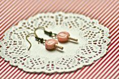 Earrings  Strawberry Lollipop