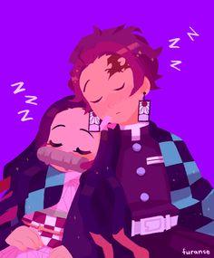 sleepy time ( ु⁎ᴗᵨᴗ⁎)ु. Manga Anime, Fanarts Anime, Anime Demon, Anime Characters, Anime Art, Arte Ninja, Slayer Meme, Dragon Slayer, The Villain