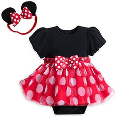 e3659ecd3 Disney Store Authentic Minnie Mouse Baby Costume & Headband 3 6 9 12 ...