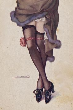 vintage french postcards stockings | Recent Photos The Commons Getty Collection Galleries World Map App ...