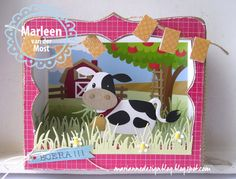 Marianne Design collectable COL1426 Eline's Cow | craftable CR1355 Grass