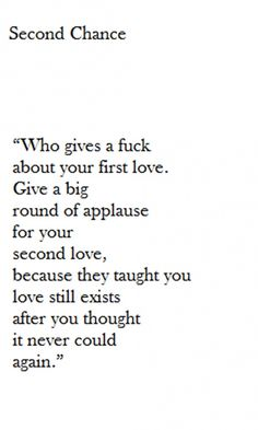 Bullshit - Thank yourself for realizing that love always exists and that  just because you'