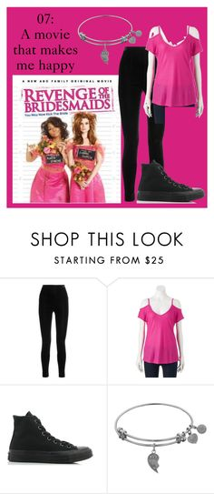 """""""Movie 07: Revenge of the Bridesmaids"""" by nichelle-thompson ❤ liked on Polyvore featuring Balmain, Juicy Couture and Converse"""