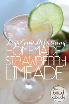 Light and Refreshing Homemade Sparkling Strawberry Limeade: A Delicious Way to Drink More Water!
