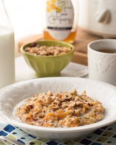 Recipe:  Slow Cooker Quinoa Oatmeal