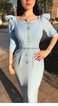 Dress and beauty color Hijab Evening Dress, Hijab Dress Party, Hijab Style Dress, Evening Dresses, Casual Formal Dresses, Elegant Dresses For Women, Simple Dresses, Modest Fashion, Fashion Dresses