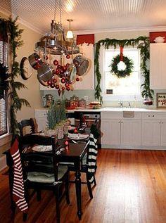 Christmas stockings hung on chair backs