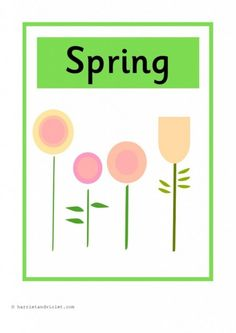 Season Posters A4 Portrait Display or Flashcards H Free teaching resource from harrietandviolet.com