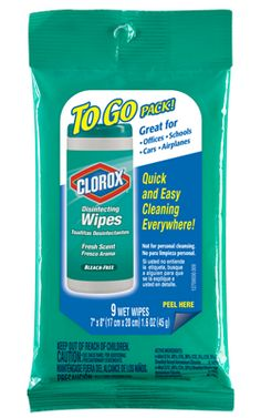 Clorox wipes - gotta wipe down the hotel room...phone, light switches, and basically the entire airplane seat