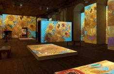 The Amazing Van Gogh Alive Exhibition Zurich. A multi sensory exhibition at the MAAG Halle in Zurich with projections of Van Gogh's paintings Van Gogh Paintings, Just For Men, Zurich, Classical Music, Halle, Amazing, Winter, Board, Blog