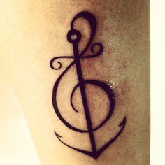 my tattoos - 3ª (Clave de Sol + âncora)