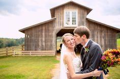 #Congrats to our #radiant #olascouple! ::Stephanie + Ed's outdoor wedding at the Densmore Farm in Cleveland, Georgia:: #farmwedding #georgiawedding #kiss #smile #love #marriage #flowers #weddingphotography #fallwedding