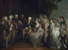 George III (1738–1820), and His Family  by Thomas Stothard