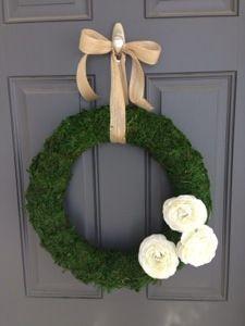 Spring DIY Moss Wreath