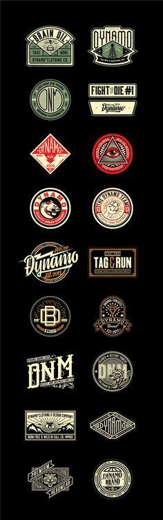 New vintage logo design badges Ideas Logos Vintage, Vintage Logo Design, Graphics Vintage, Vintage Branding, Graphisches Design, Badge Design, Typography Logo, Logo Branding, Logos Online