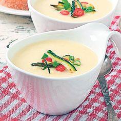 Cream Soup, Cheeseburger Chowder, Zucchini, Delish, Garlic, Food And Drink, Supe, Vegan, Cooking