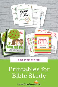 These Bible study printables include inductive activities, scripture memorization, and more. | Sunday School | Resources | Kid's Ministry