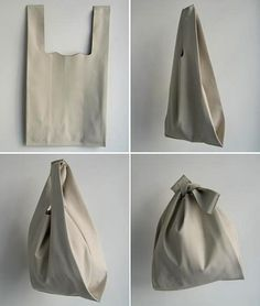 Leather bag made from one~piece ~ such a shame it& leather - Diy Makeup Bag, Leather Bag Pattern, Diy Sac, Diy Tote Bag, Fabric Bags, Reusable Bags, Cloth Bags, Handmade Bags, Leather Craft