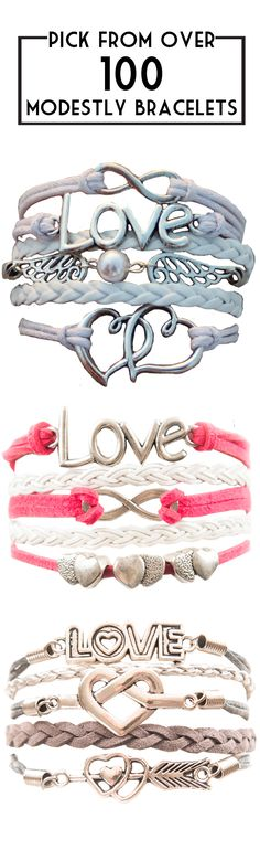 Vamp up your accessories collection this spring with an eye catching bracelet from Modestly!
