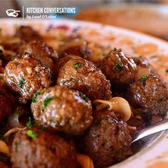 Salisbury steak meatballs w/noodles