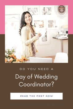 Planning your own wedding is a great way to save money. You've done your research, picked the best vendors and finished your DIY. Now you just have to figure out the logistics: how will your projects get set up? What if a vendor is late? Hiring a day of wedding coordinator is a great way to bring your DIY wedding vision to life. Is a day of wedding coordinator worth it? Find out how much it costs for a day of wedding coordinator, what a day of coordinator will do, and how to find one near… Best Wedding Planner Book, Wedding Planner Binder, Wedding Planning On A Budget, Wedding Planning Timeline, Destination Wedding Planner, Wedding Coordinator, Wedding Reception On A Budget, Inexpensive Wedding Venues, Wedding Engagement
