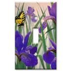 Art Plates Butterfly in Irises 2 Toggle Wall Plate-D-137 - The Home Depot