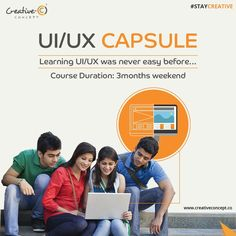 UI/UX CAPSULE  Learning UI/UX was never easy before....  Course Duration : 3 Month Weekend.  #UI #UX #UIUX #staycreative #creativeconcept #joborientedcourses
