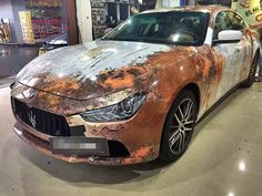 white rusty design sticker vinyl wrap car sticker bomb new for your whole car body!