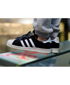 on sale d4cb8 7e029 Adidas Originals Superstar 80s Deluxe Suede Black White Shoes
