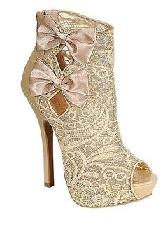 Christian Louboutin Lace Wedding Shoes ♥ Chic and Fashionable Wedding High Heel Shoes