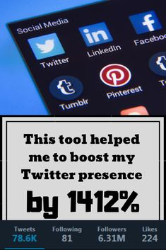 This tool helped me to boost my Twitter presence by 1412% | Brief News Twitter T, Twitter Followers, Post Board, Follow Me On Instagram, Help Me, Travel Quotes, Personal Finance, Marketing